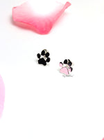 Briseis Silver- cute dog paw stud earrings