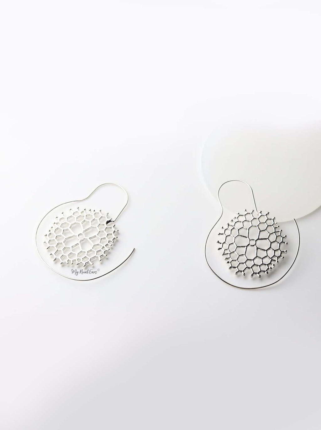 Danae Silver- round spiral plant inspired earrings - My Roial Ears LTD