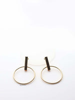 Selene- gold plated big circle hoop earrings - My Roial Ears LTD