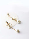 Pistis-  cute gold pearl drop earrings - My Roial Ears LTD