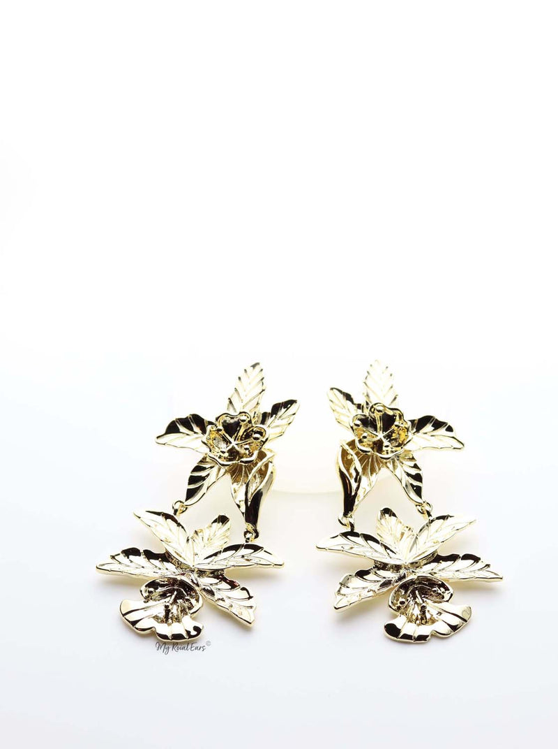 Anthurium- tropical flower statement earrings - My Roial Ears LTD