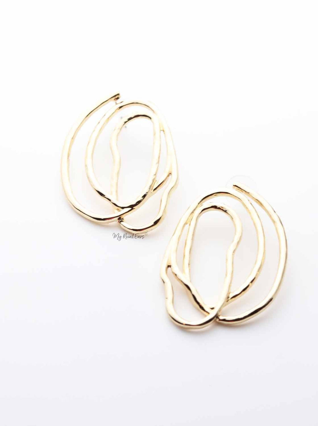 Carissa- impressive abstract statement stud design earrings - My Roial Ears LTD