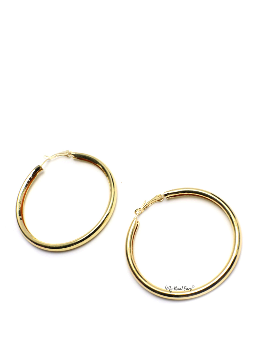 Evadne-gold hoop earrings