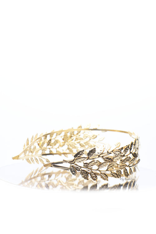 Queen Candace- double side leaf greek inspired headband - My Roial Ears LTD