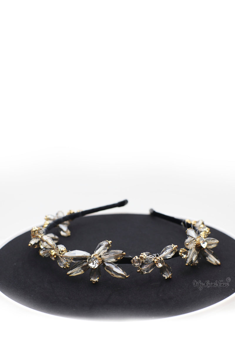 Queen Didrika- striking transparent geometry stone headband - My Roial Ears LTD