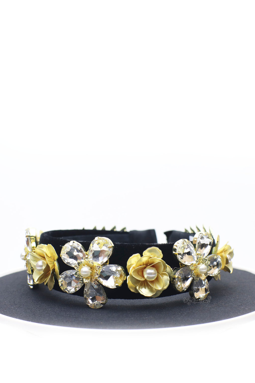 Queen Cayla- golden floral metal headband - My Roial Ears LTD