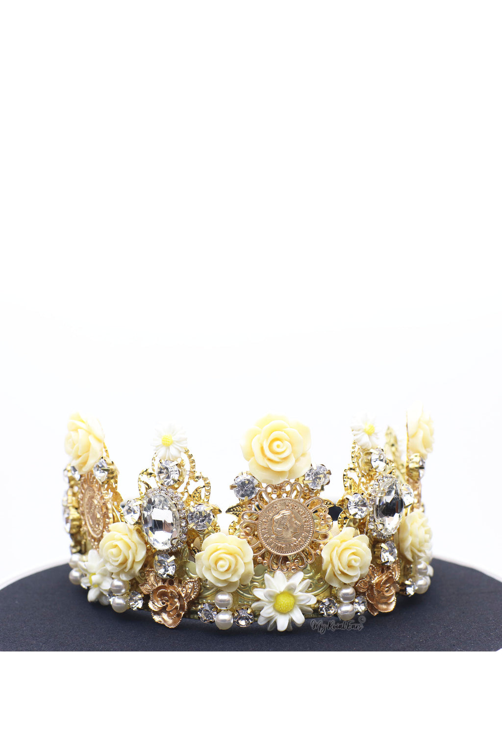 Queen Gloria- golden detailed runway headband - My Roial Ears LTD