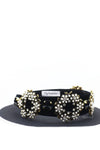 Queen Elissa- black velvet pearl circle headband - My Roial Ears LTD