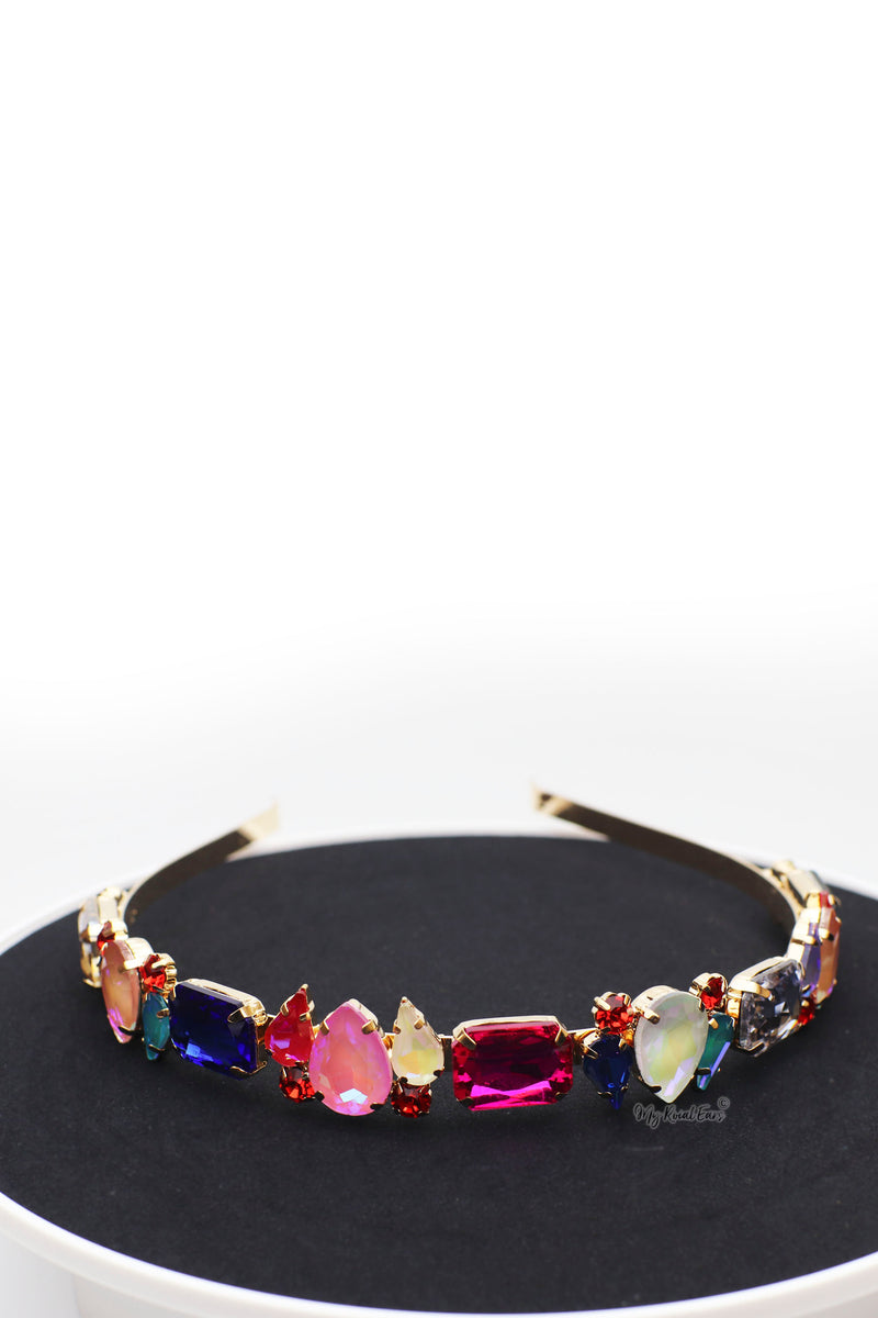 Queen Faustine Multi-gorgeous crystal stone headband - My Roial Ears LTD