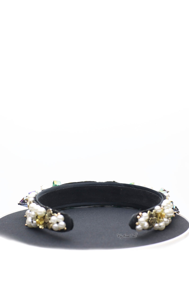 Queen Gladys- impressive baroque beaded headband - My Roial Ears LTD