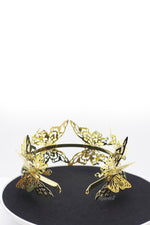Queen Elsa-gold metal 3D butterfly headband - My Roial Ears LTD