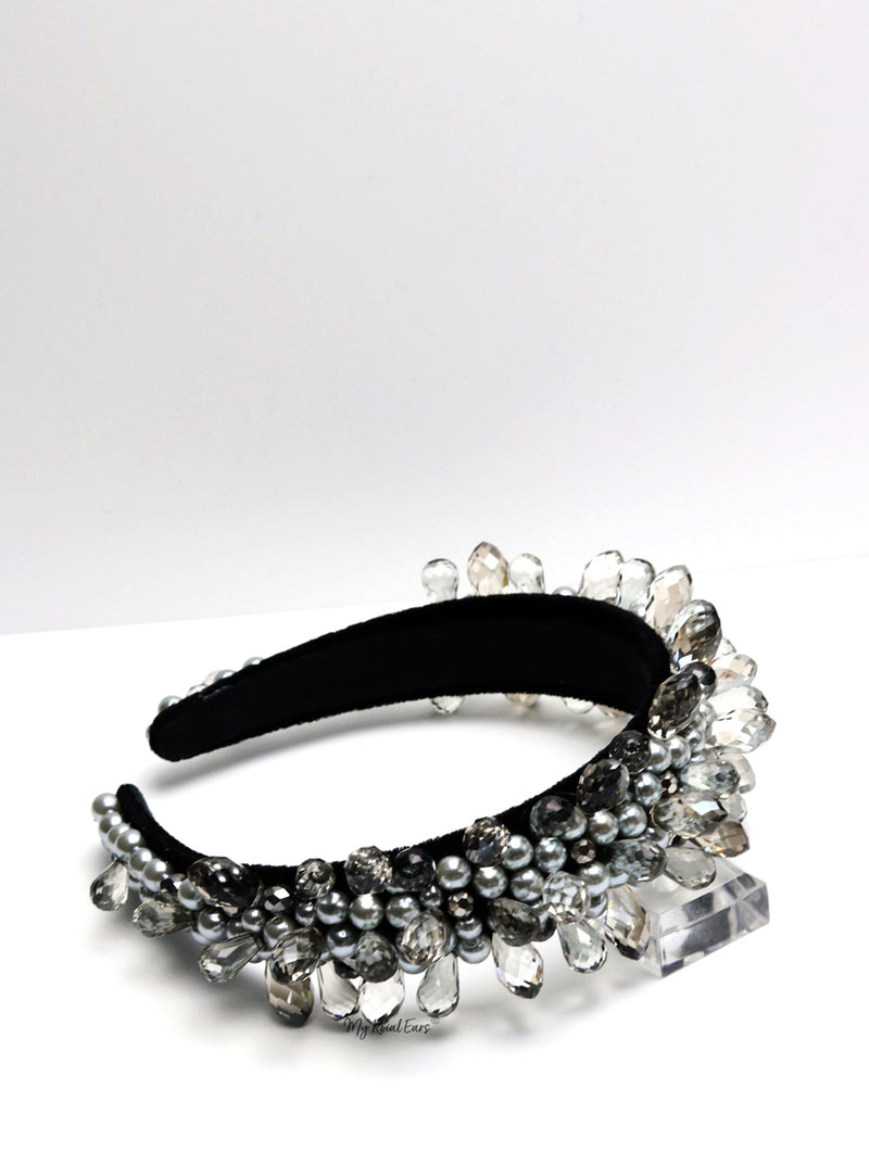 Queen Farica- clear water drop inspired headband