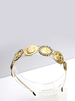Queen Laura-golden greek headband with crystals