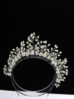 Queen Kendra- pearl beaded de noiva bridal headband