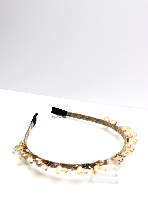 Queen Nash Gold- crystal stone headband