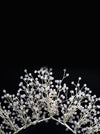 Queen Morgan Gold Orla-clear crystal beaded crown