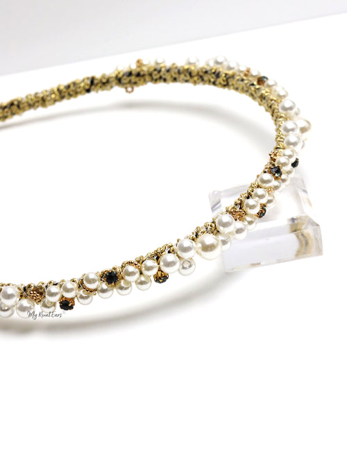 Queen Orla-pearl-embellished headband
