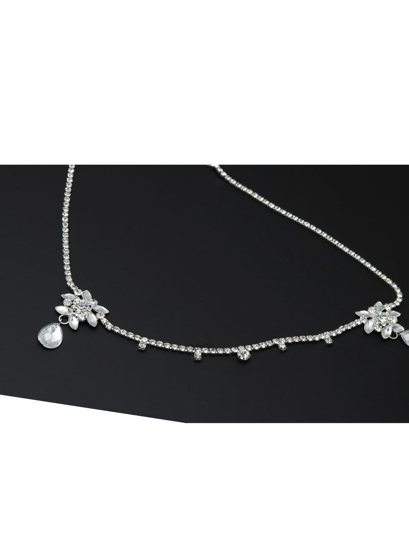 Queen Millicent- crystal bridal head chain