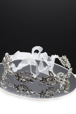 Queen Marian- exquisite silver crystal leaf headband - My Roial Ears LTD