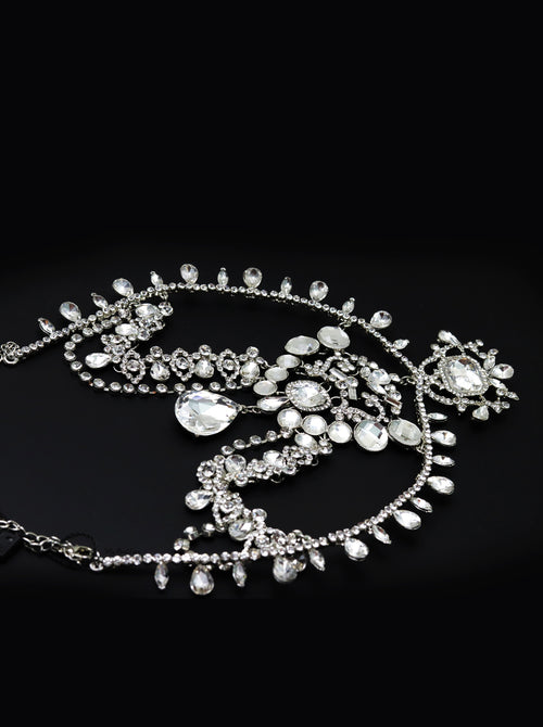 Queen Coco- silver plated statement head chain