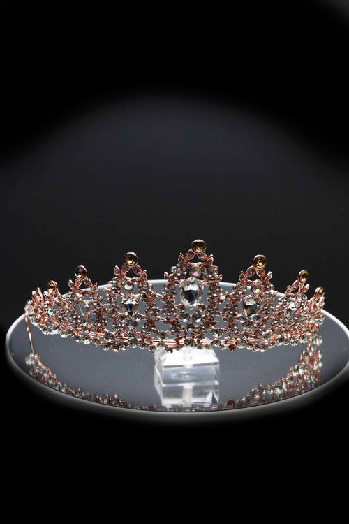 Queen Lorraine Rose Gold- vintage baroque spectacular tiara - My Roial Ears LTD