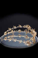 Queen Winfrey- handmade golden floral headband - My Roial Ears LTD