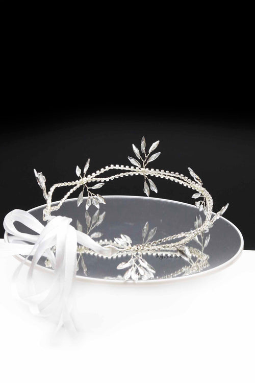 Queen Pauline- crystal ribbon headband - My Roial Ears LTD