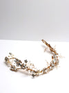 Queen Lizzie- gold handmade bridal headpiece
