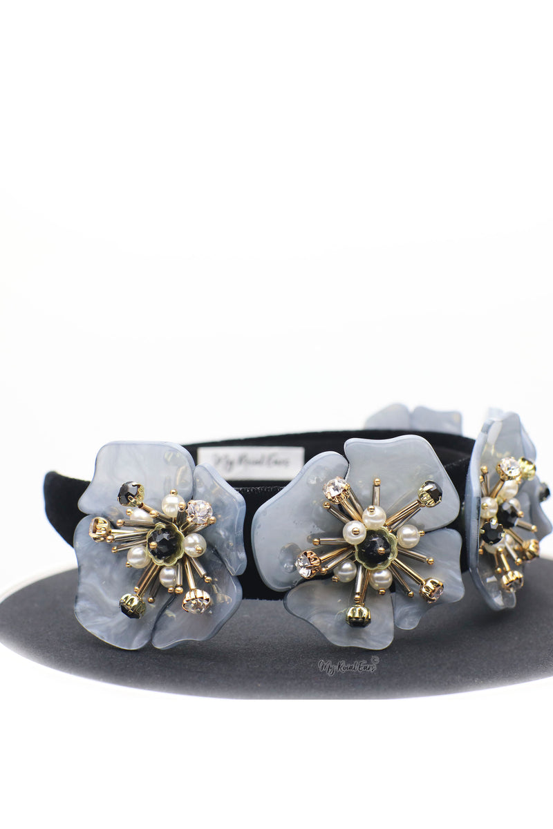 Queen Alexandra- statement acrylic flower headband - My Roial Ears LTD