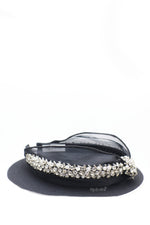 Queen Gabriella- black rhinestone crystal knotted headband - My Roial Ears LTD