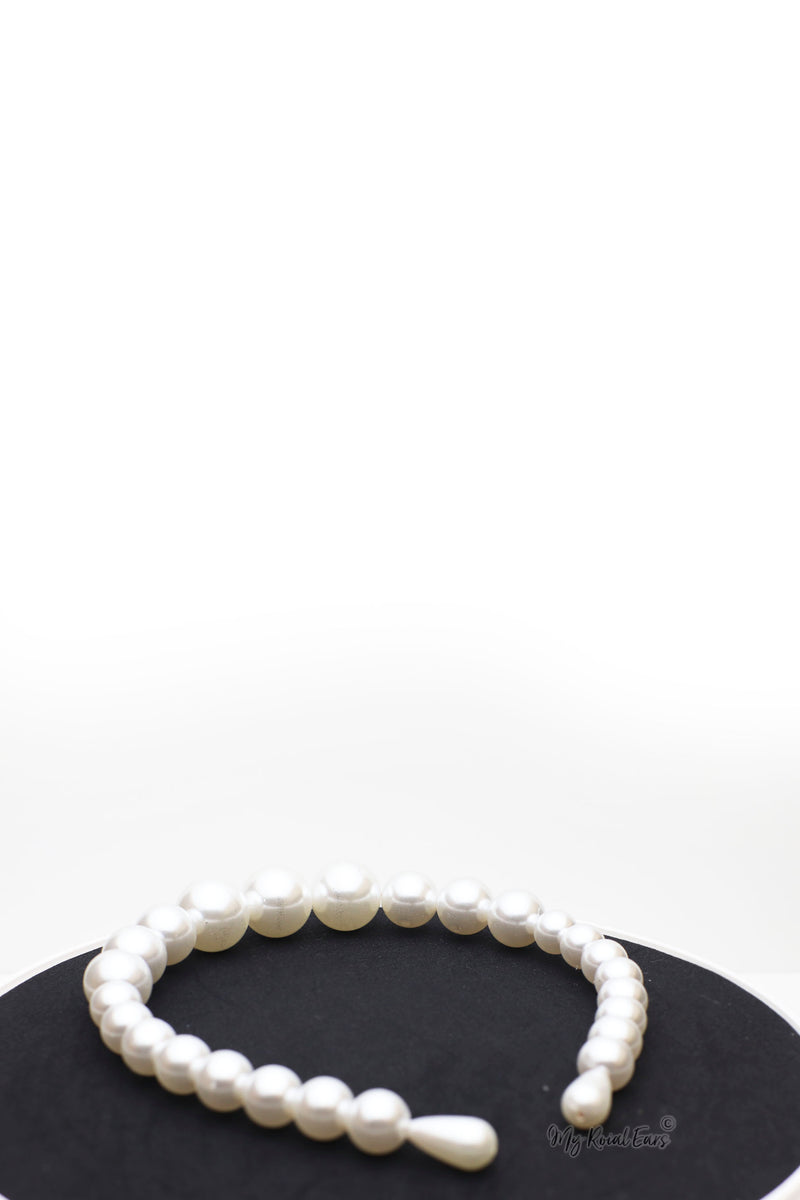 Queen Calla- fine pearl headband - My Roial Ears LTD