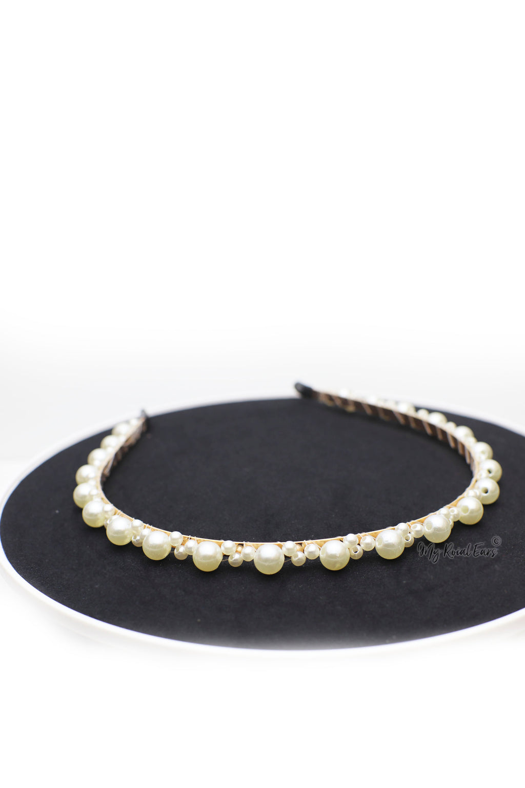 Queen Amy- small and large pearl design headbands - My Roial Ears LTD