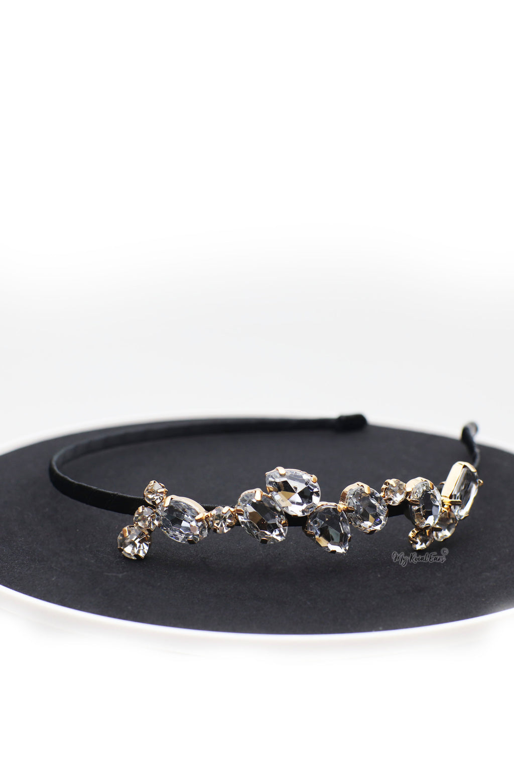 Queen Majesta-side crystal headband - My Roial Ears LTD
