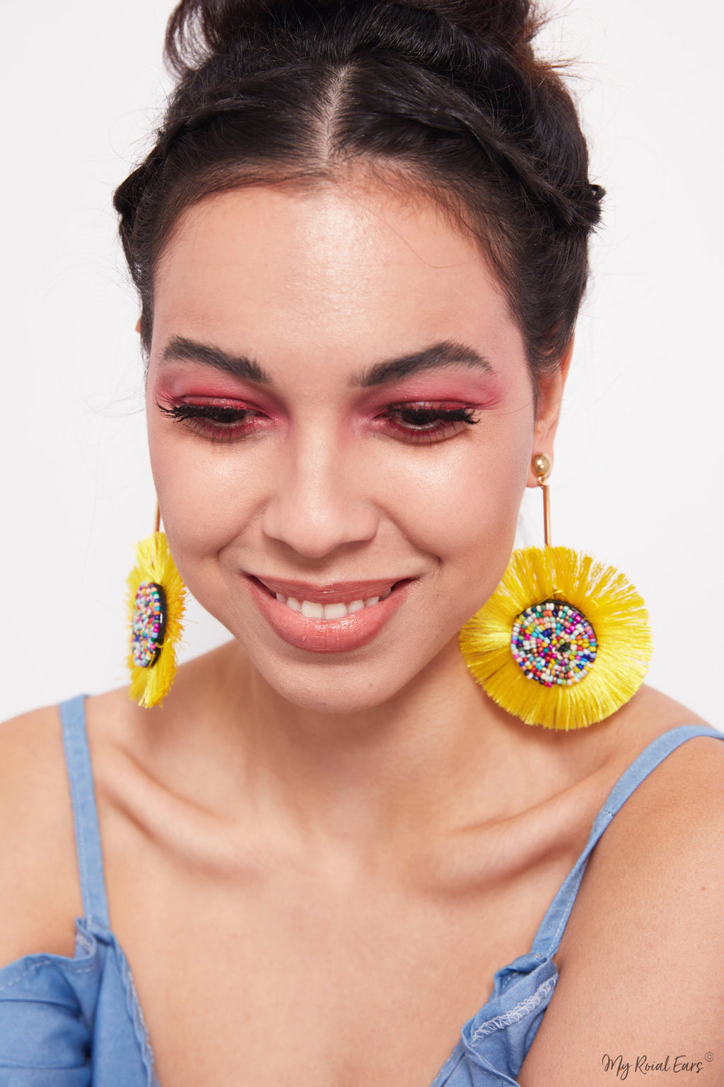 Bottle Brush- candy shaped tassel earrings - My Roial Ears LTD