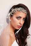 Queen Malka-a silver plated pearl headpiece - My Roial Ears LTD