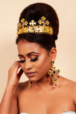 Queen Harriet-Baroque Cross Tiara and Earring Set - My Roial Ears LTD