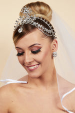 Queen Coco- silver plated statement head chain - My Roial Ears LTD