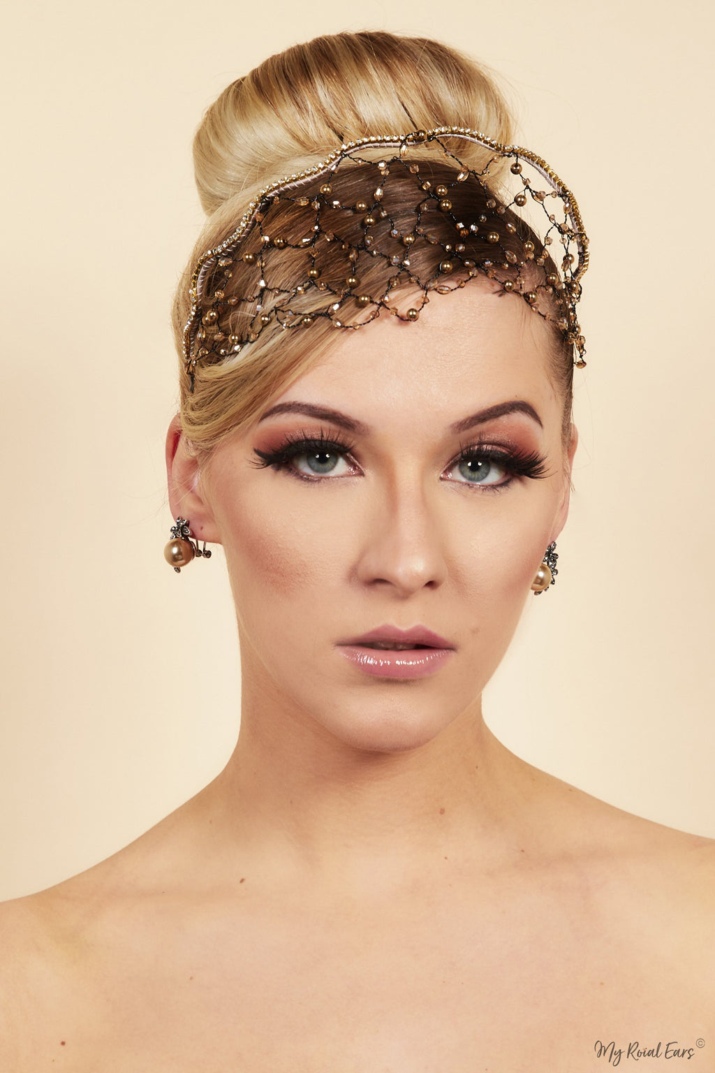 Queen Wangari-stunning embellished wired headpiece - My Roial Ears LTD