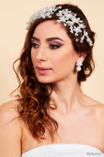 Queen Betner- beaded acrylic floral headpiece - My Roial Ears LTD