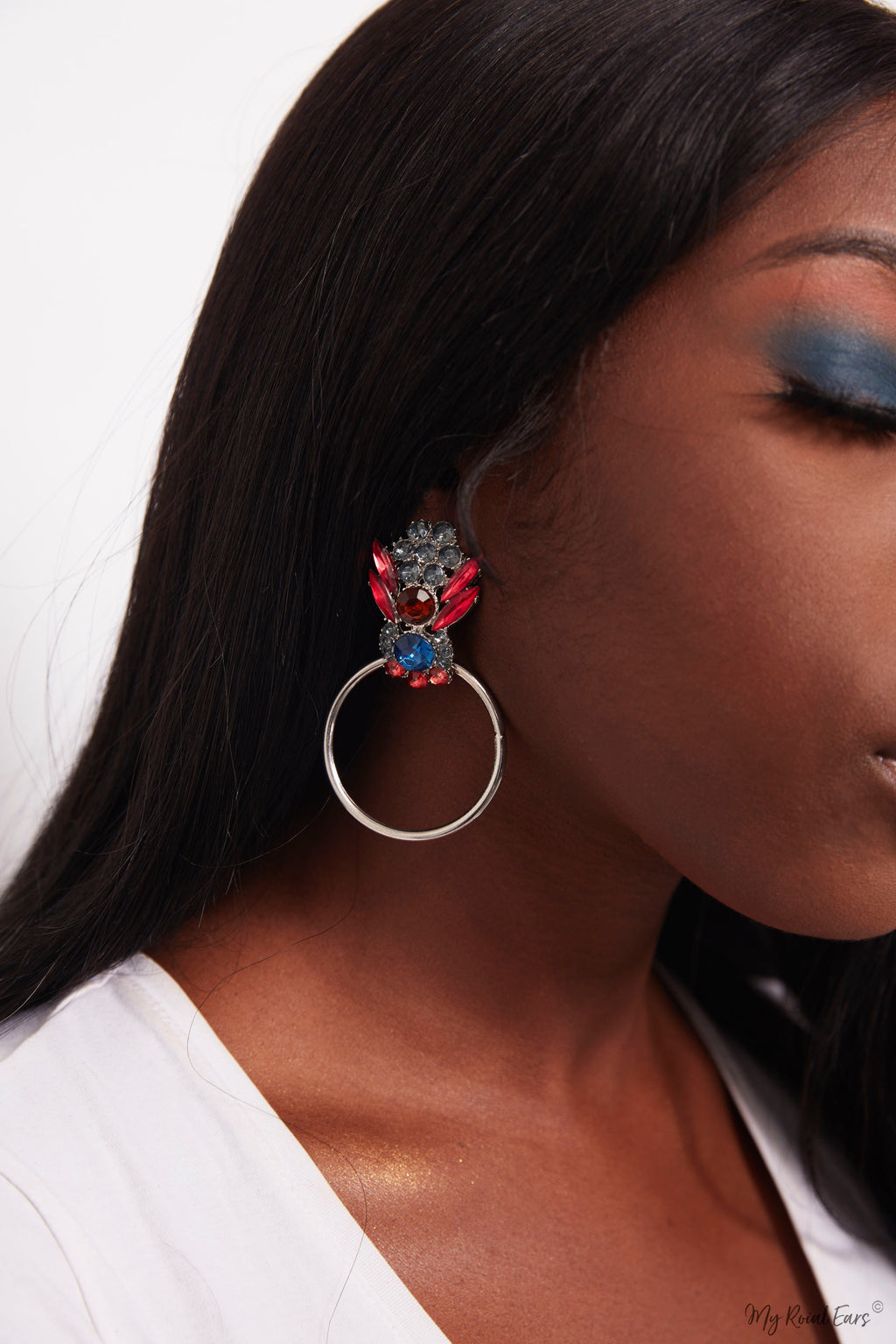 Lotus Flower-  bubble bee stud and hoop earrings - My Roial Ears LTD