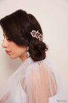Queen Helary-rose gold crystal leaf headpiece - My Roial Ears LTD