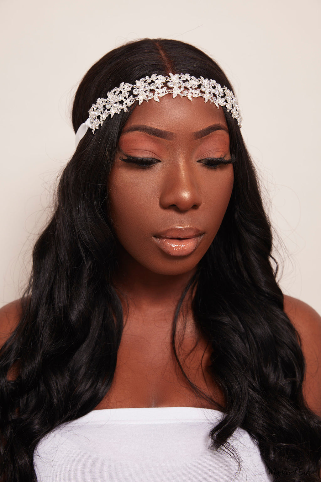 Queen Malala- dazzling silver floral headband - My Roial Ears LTD