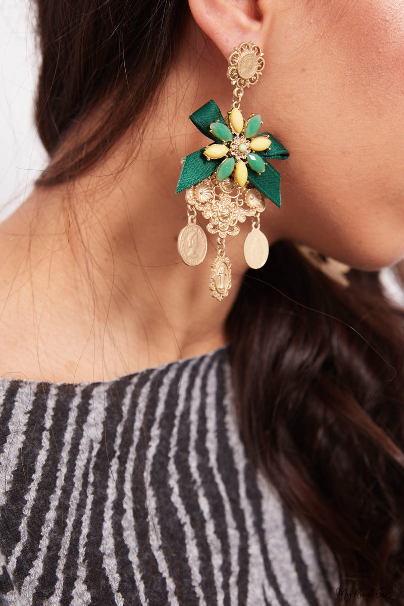 Petunia- runway baroque statement earrings - My Roial Ears LTD