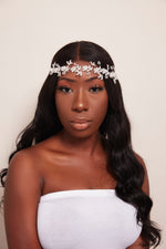 Queen Brigitte- intricate clear silver headband - My Roial Ears LTD