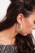 Biennial- silver  plated hoop earrings - My Roial Ears LTD