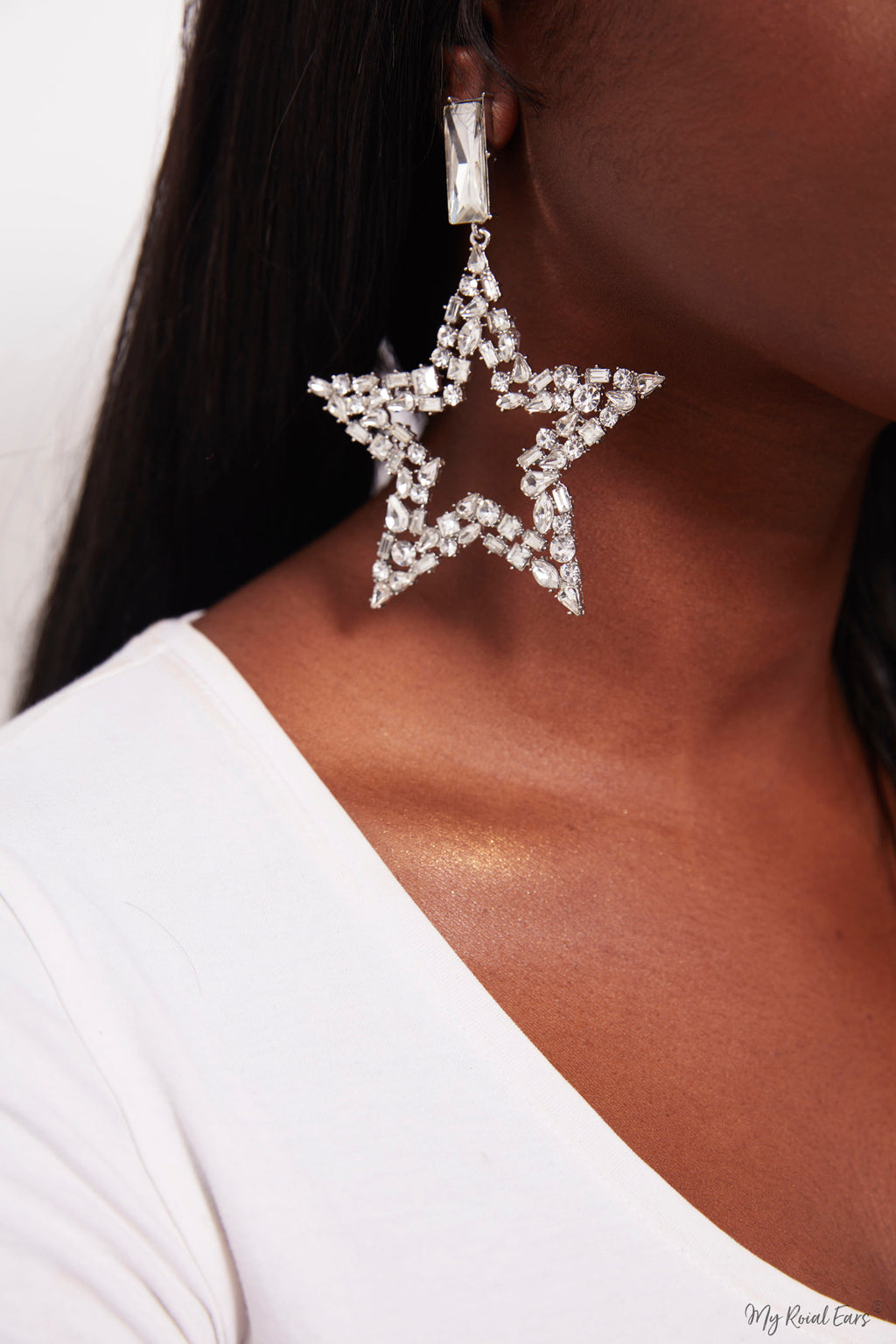 Jacaranda- statement star earrings - My Roial Ears LTD