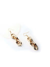 Atlas- gold plated impressive chain drop earrings - My Roial Ears LTD