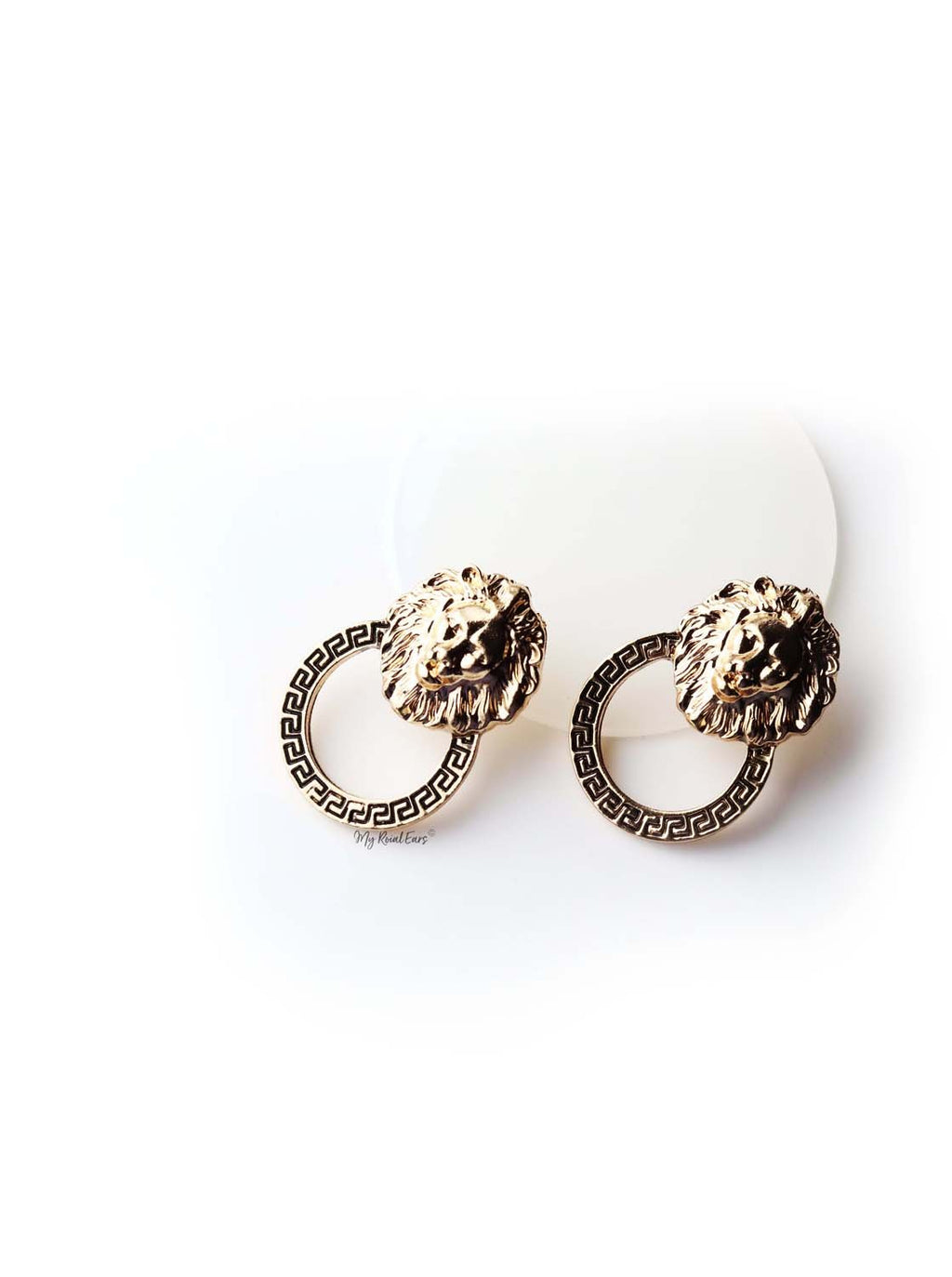 Apollo- lion shape statement stud - My Roial Ears LTD
