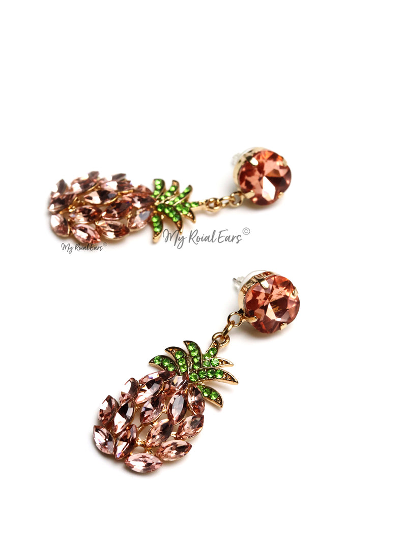Vitella H- pineapple drop embellished earrings