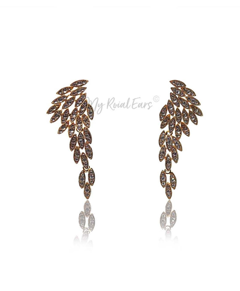 Q.Rosemary-luxury remarkable drop statement bridal earrings - My Roial Ears LTD